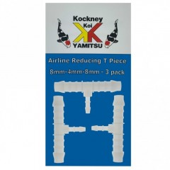 Kockney Koi 8mm - 4mm - 8mm Airline Reducing T Piece (3pk