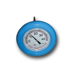 big blue wheel type thermometer