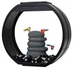 Fish R Fun Deco Mini Round Aquarium Tanks 10 Litre Black